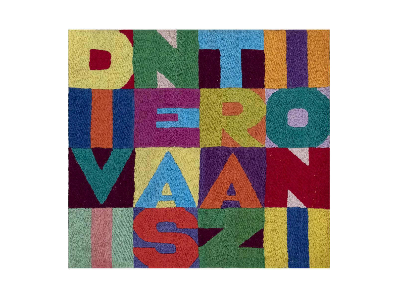 Alighiero Boetti, Divine astrazioni, 1990, cm 23x24