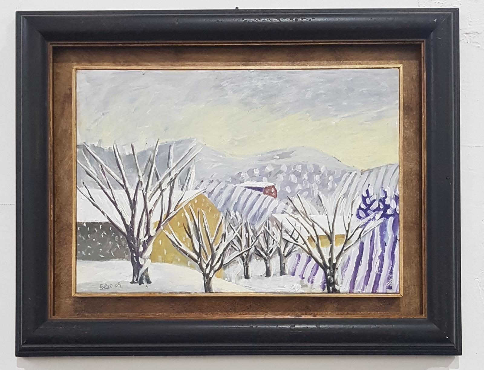Salvo, Senza titolo, 2009, olio su cartone, cm 35x50