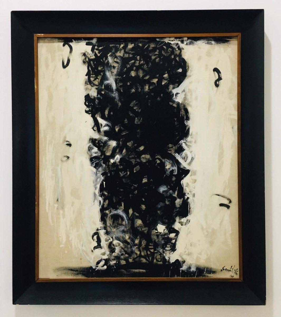 Sanfilippo, Arcaico, 1959, acrilico su tela, cm 97x81