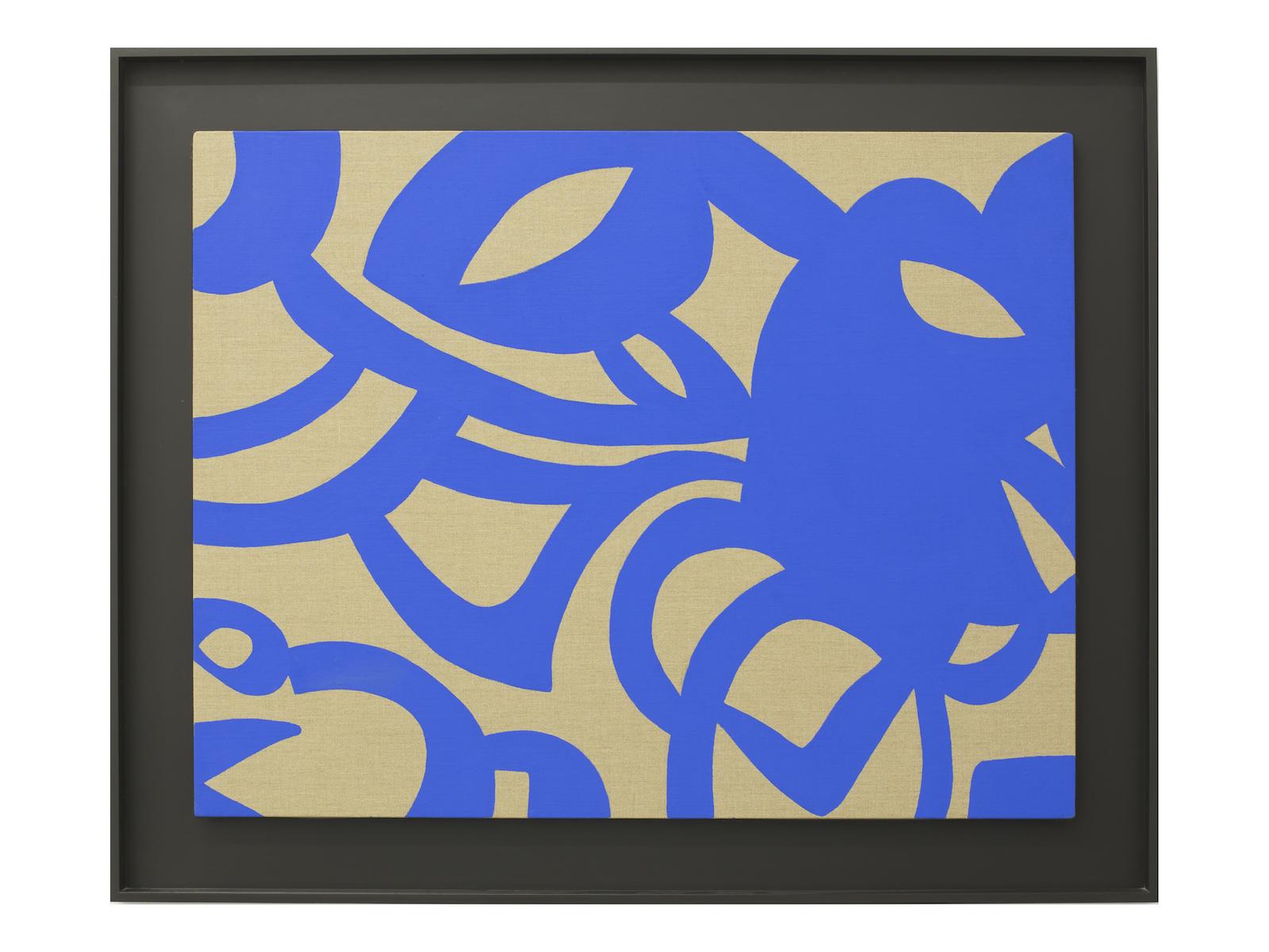 Carla Accardi, Blu cobalto, 2008, acrilico su tela, cm 70x90