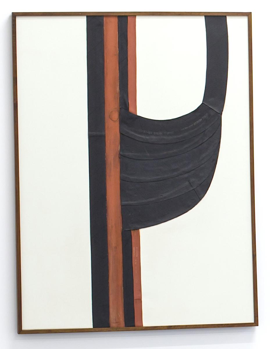 Carol Rama, La guerra è astratta, 1970, camera d'aria su tela, cm 120x90