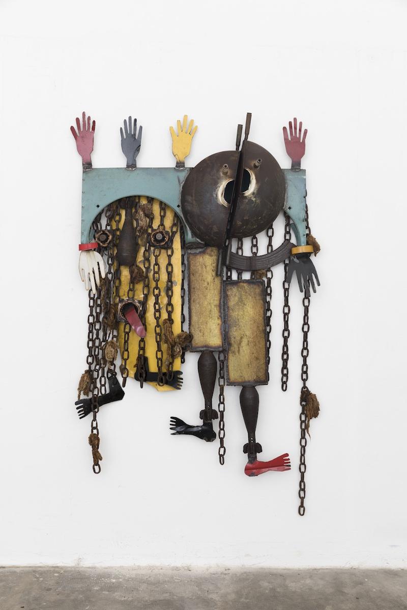Gonçalo Mabunda, Untitled, 2018-2019, tecnica mista, cm 150x100