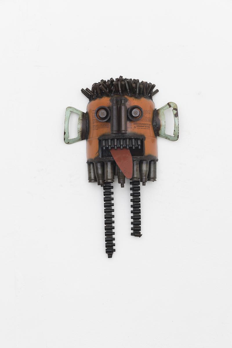 Gonçalo Mabunda, Untitled (Mask), 2018-2019, tecnica mista, cm 57x40