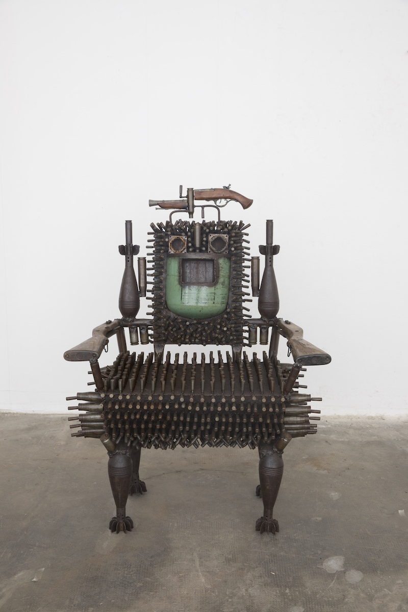 Gonçalo Mabunda, Untitled (Throne), 2018-2019, tecnica mista, cm 115x84x76