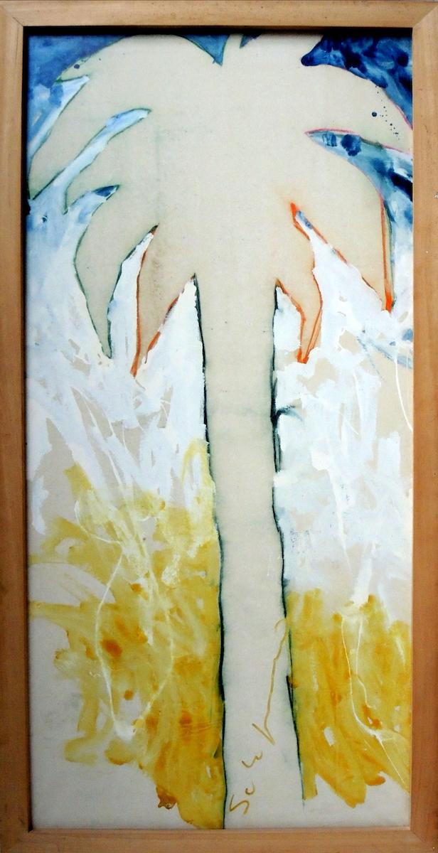 1973, smalto su tela, cm 200x93,5