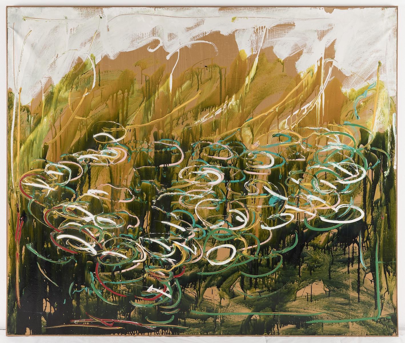 1983, smalto e acrilico su carta applicata su tela, cm 150x190