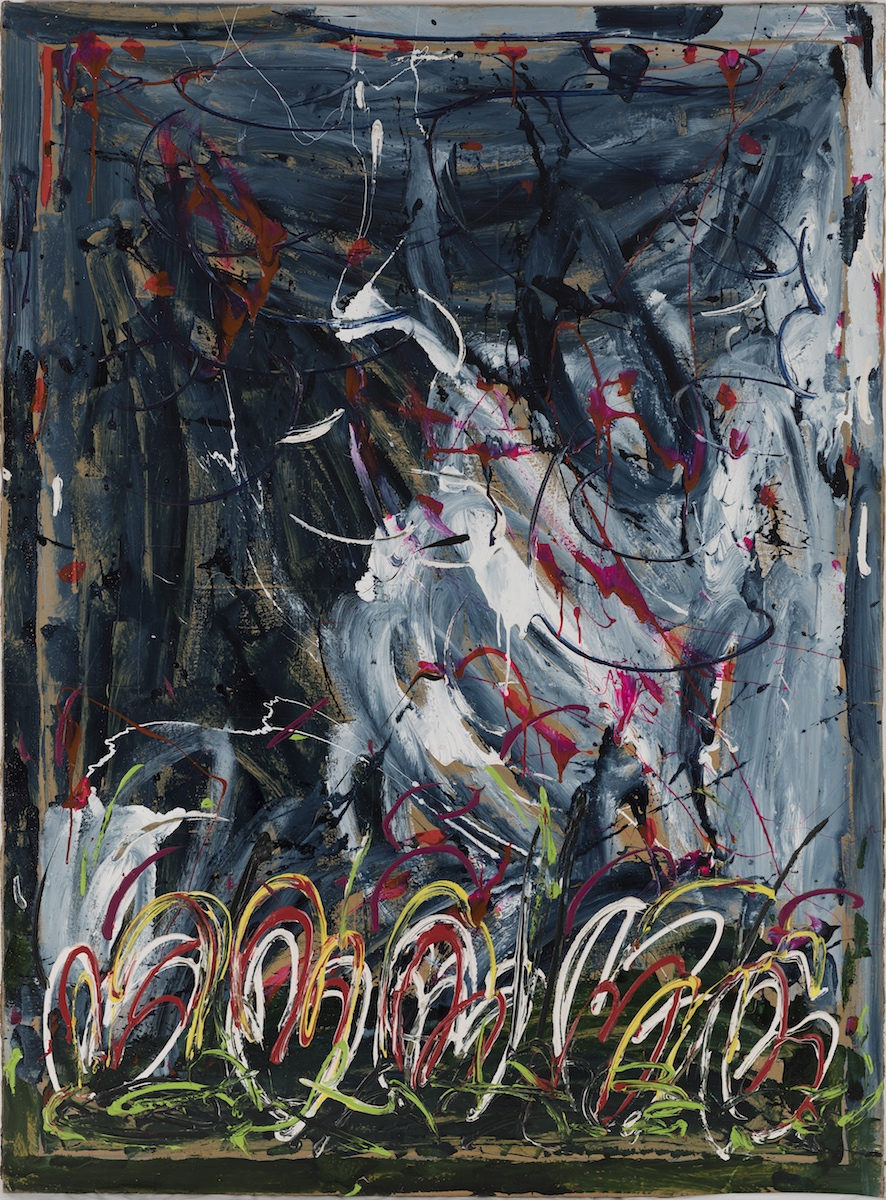 1984, smalto e acrilico su carta applicata su tela, cm 190x140