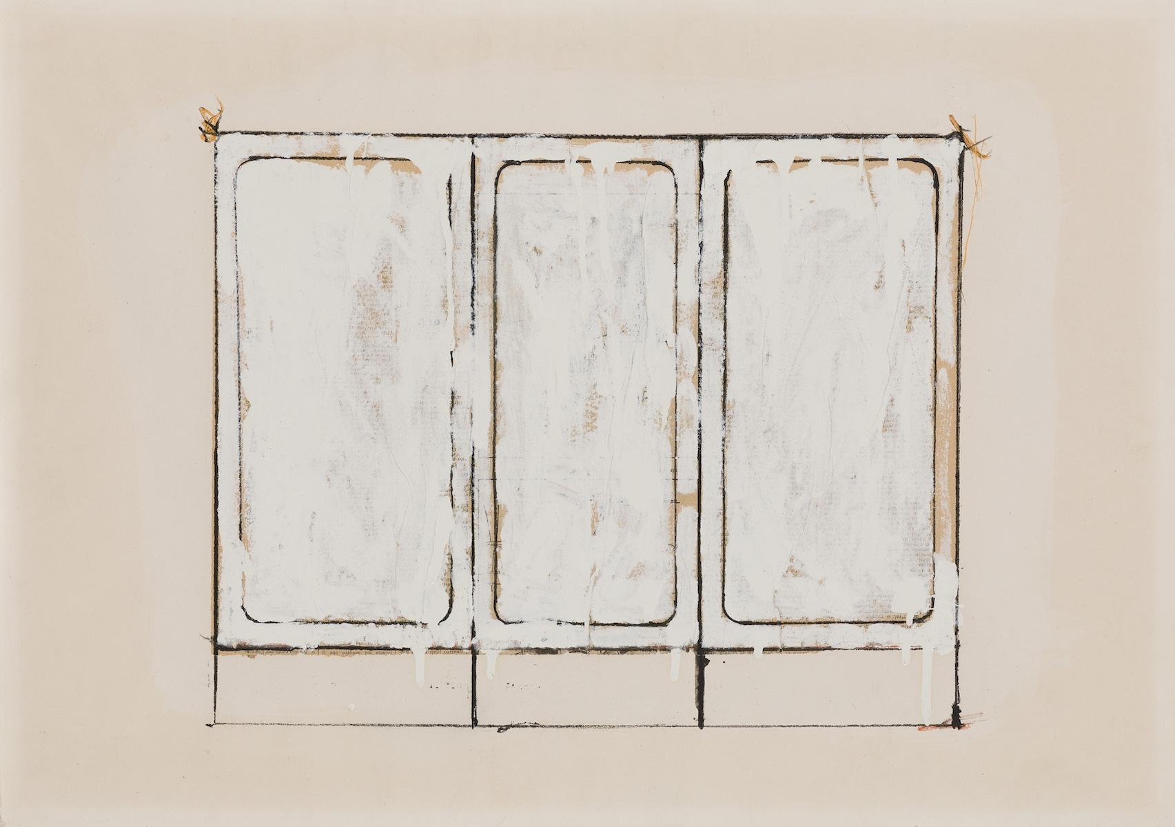 1962, collage e smalto su carta, cm 46x67