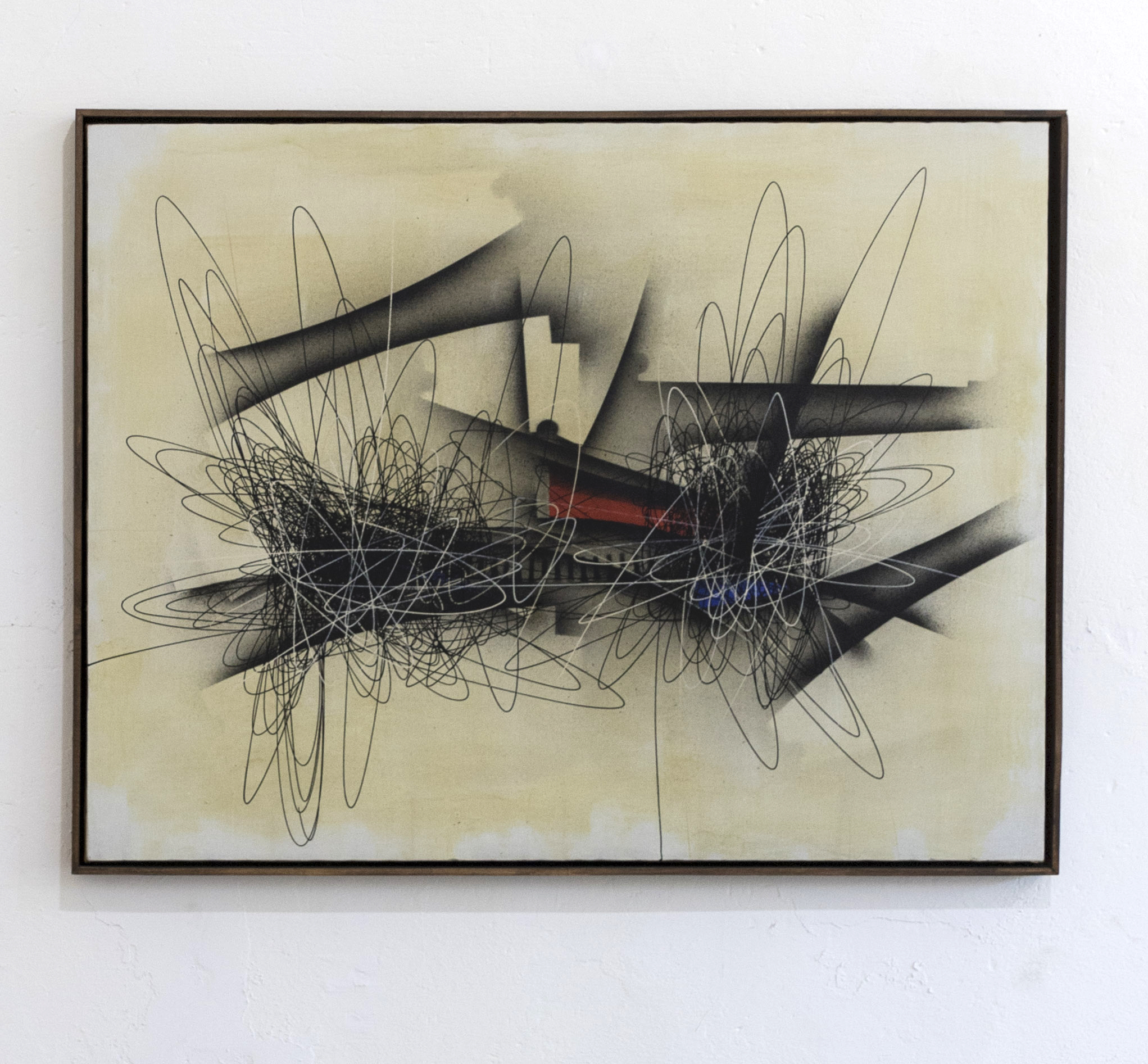 Roberto Crippa, Spirale, 1952, olio su tela, cm 100x130