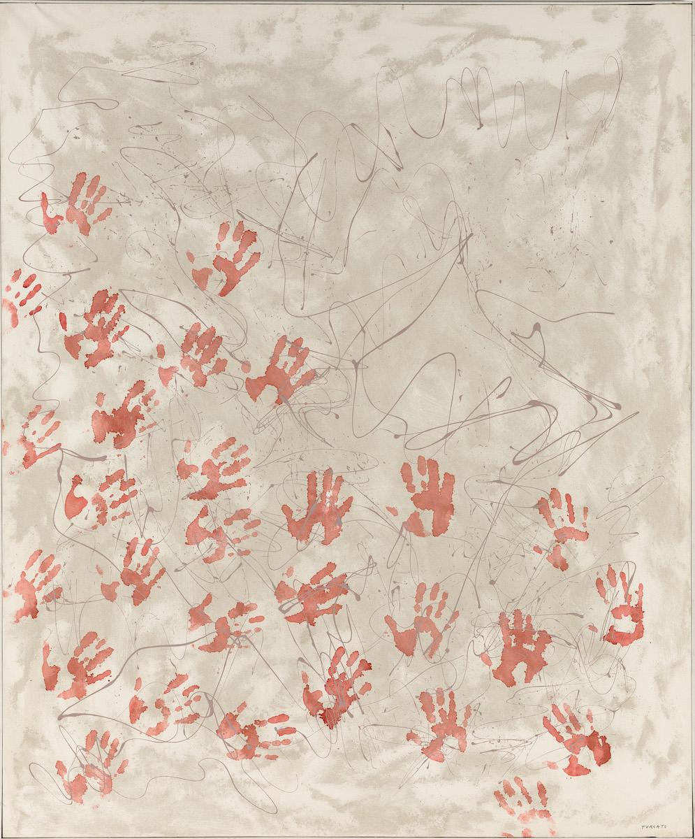 1970, olio e tecnica mista su tela, cm 180x150