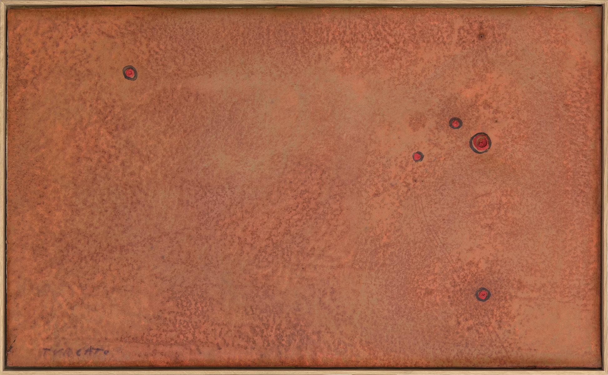 1968, olio e tecnica mista su gommapiuma, cm 42x69