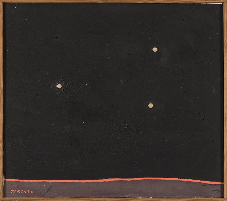 1961, olio e tecnica mista su tela, cm 62x70