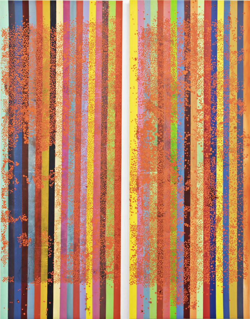 olio su tela, (dittico) cm 244x92 cad. [MK028]