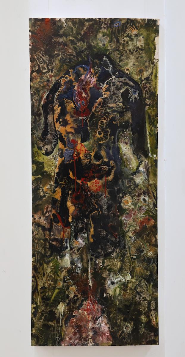 olio e vernice su tela, cm125x30